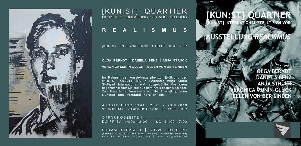"""Vernissage """"Realismus"""" am 26.08.18 - 14:00 Uhr im KUN:ST QUARTIER"""