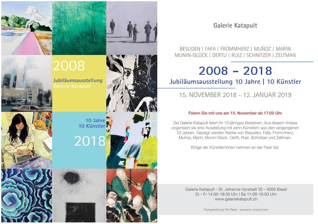 Jubiläumsausstellung Katapult Basel - Vernissage 15.11.2018-17:00 Uhr