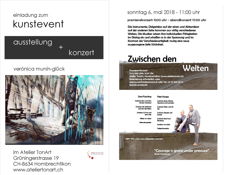kunstevent - ausstellung + konzert 6.mai 11:00-17:00 uhr